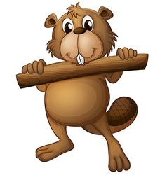 A beaver vector image