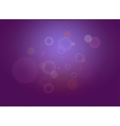 Abstract dark violet bokeh lights with sparkles vector image