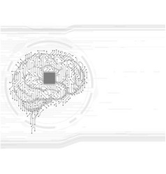 ackground with the human brain vector image