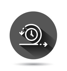 Agile icon in flat style flexible on black round vector
