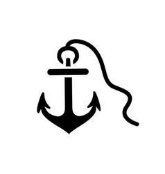 anchor icon in flat style icon for apps and vector image
