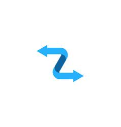 arrow letter z logo icon design vector image