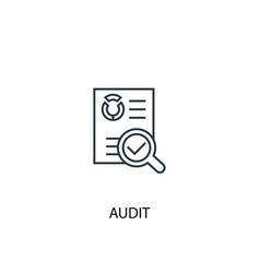 Audit concept line icon simple element vector