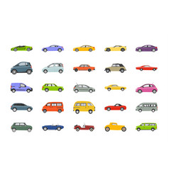 Best cars flat icons vector