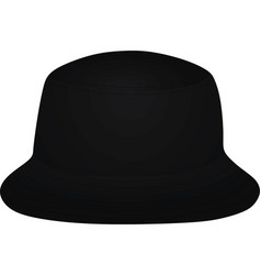 Black fisherman hat vector