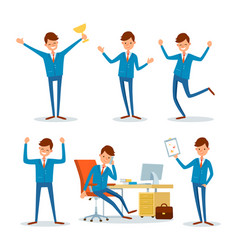 Business activities of businessman people at work vector