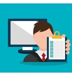 Business project management plan vector