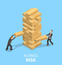 Business risks flat isometric concept vector