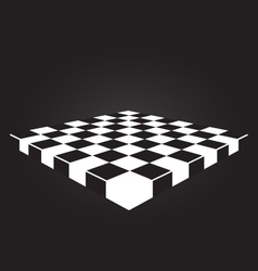 checkers board vector image