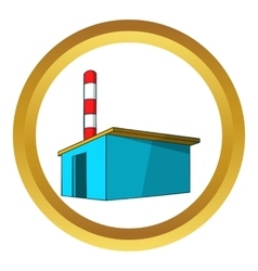 Chemical warehouse icon vector