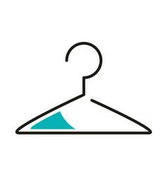 Cloth hanger line style icon design vector