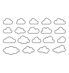 clouds line art web icons vector image