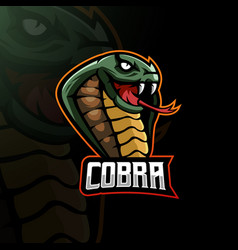 cobra mascot vector image