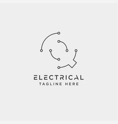 Connect or electrical q logo design icon element vector