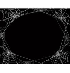 creepy spider webs frame for halloween vector image