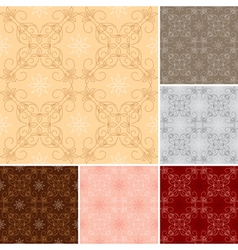 dark and light seamless patterns for background vector image