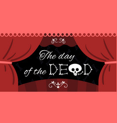 day dead mexico lettering vector image