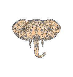 Elephant head tusk mandalaa vector