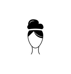 female hairstyle iconelement hairstyles icon vector image