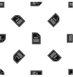 file doc pattern seamless black vector image