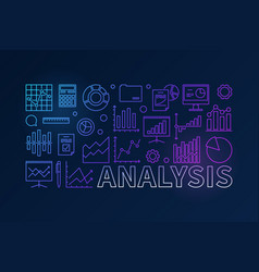 Financial analysis colorful horizontal banner vector