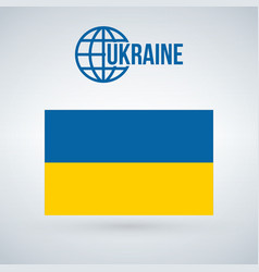 flag of ukraine isolted on modernbackground with vector image
