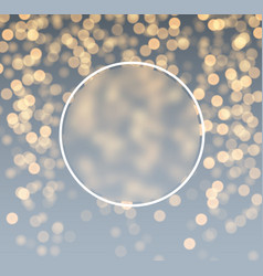 gray and golden bokeh background vector image