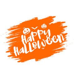 grunge halloween typography background vector image