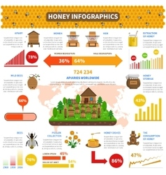 Honey Infographics Set vector