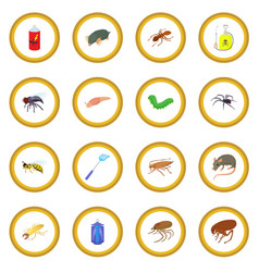 insect icon circle vector image