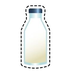 Isolated milk bottle design vector
