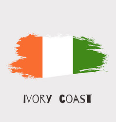 ivory coast watercolor national country flag icon vector image
