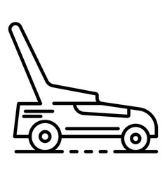 Lawnmower icon outline style vector