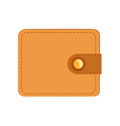 leather wallet purse case for money credit cards vector image