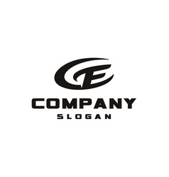 letter ec ce monogram logo design template vector image