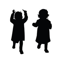 Little girl silhouette vector