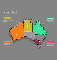map australia concept vector image