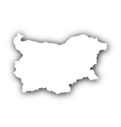 Map of bulgaria with shadow vector