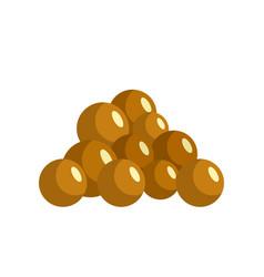 Mustard seed icon flat style vector
