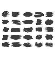 paint brush black box set vector image