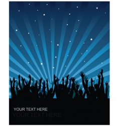 party audience background vector image