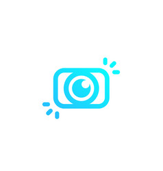 Photography photo logo mark with camera vector