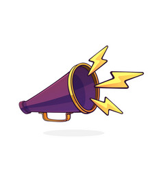 retro megaphone with lightnings symbol noise vector image