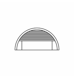 Round garage icon outline style vector image