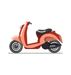 Scooter or motorbike vehicle isolated icon vector