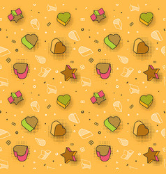 seamless pattern colorful pattern with 3d vector image