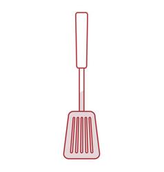 Spoon bbq cutlery icon vector