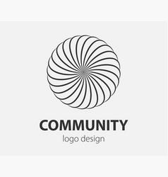 swirl logo design element logotype company vector image