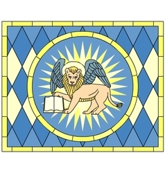 Symbol of Mark the evangelist winged lion vector