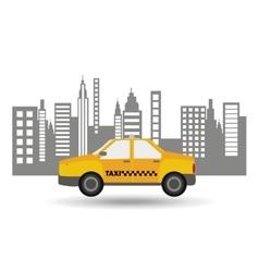 Taxi car city bakcground graphic vector